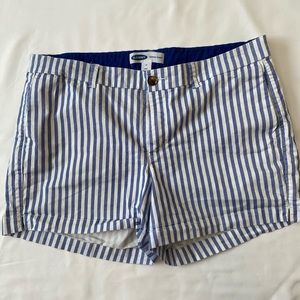 Blue and white Old Navy striped shorts